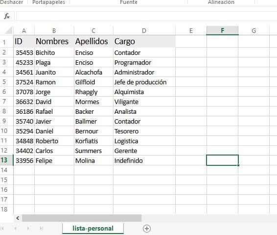 Excel generado con axlsx
