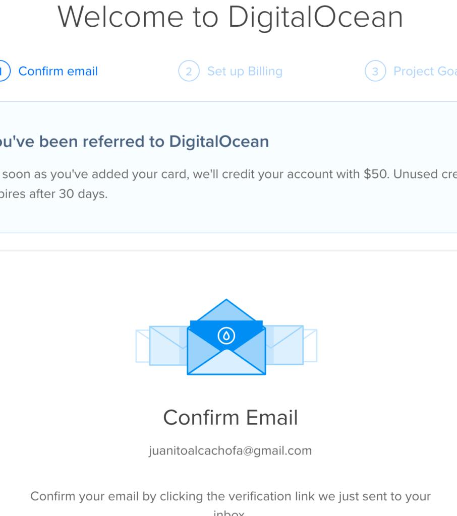 DigitalOcean Welcome
