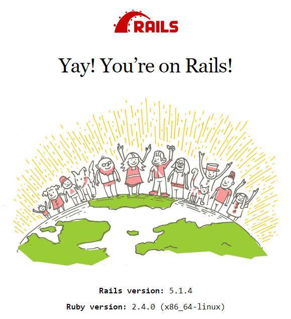 Ruby on Rails, página de bienvenida